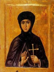 Saint Theodosia of Constantinople is a Catholic saint to help fight modern iconoclasm